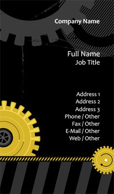 Mechanic Gears Business Card Template